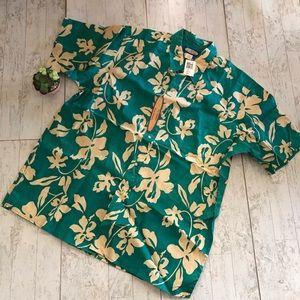 Reyn Spooner Hawaiian Aloha Shirt Size XXL green